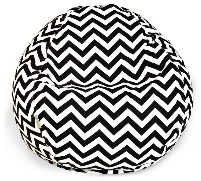 Outdoor Chevron Small Beanbag Black Contemporary Lounge Chairs