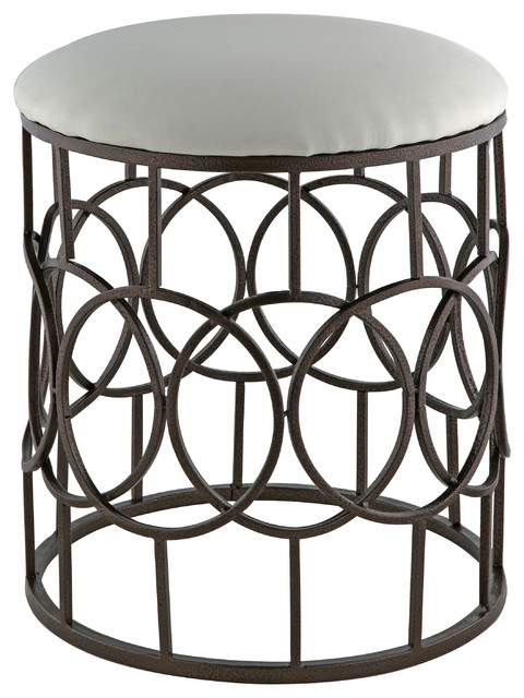 Peachy Reign Metal Vanity Stool Bronze Gmtry Best Dining Table And Chair Ideas Images Gmtryco
