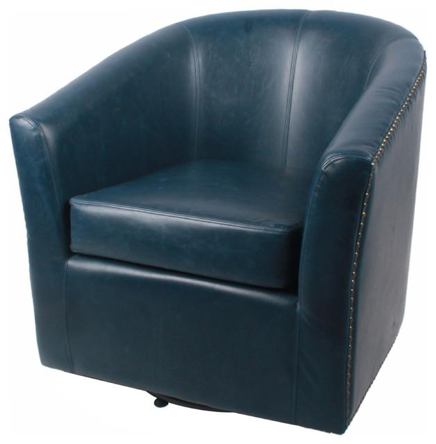 Phenomenal Ernest Bonded Leather Swivel Chair Vintage Blue Evergreenethics Interior Chair Design Evergreenethicsorg