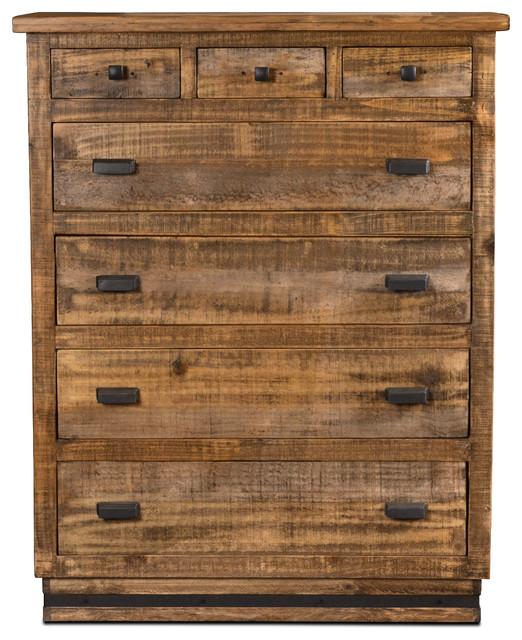 Sacramento Rustic Modern Solid Wood 7-Drawer Dresser.