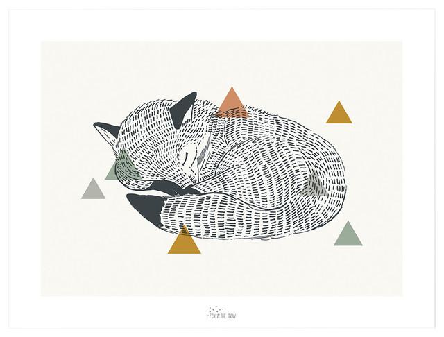 Enchanted Framed Art Print, Fox, 30x40 cm