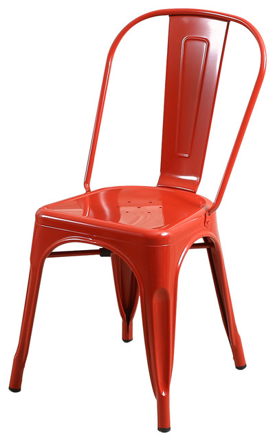 Magnificent Trattoria Dining Chair Metal Stackable Set Of 4 Red Bralicious Painted Fabric Chair Ideas Braliciousco