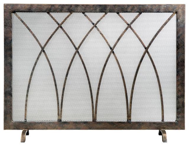 Ornamental Designs Hansel Fireplace Screen, Bronze
