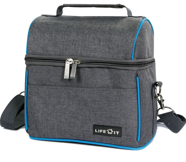 Lifewit Insulated Lunch Bag Thermal Bento Box, Cool Bag, Gray.