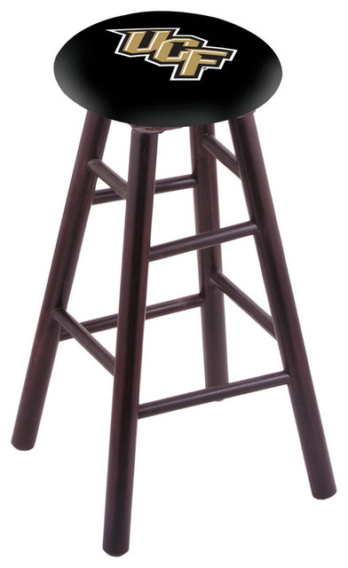 Ucf Swivel Stool With Dark Cherry Maple Wood Base