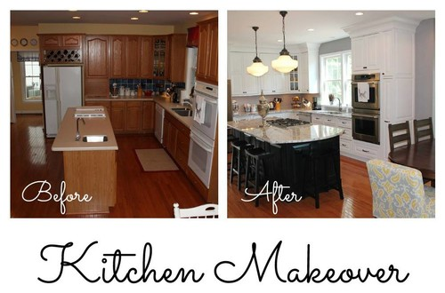 Kitchen Cabinet Makeovers Before And After kitchen makeover - before and after