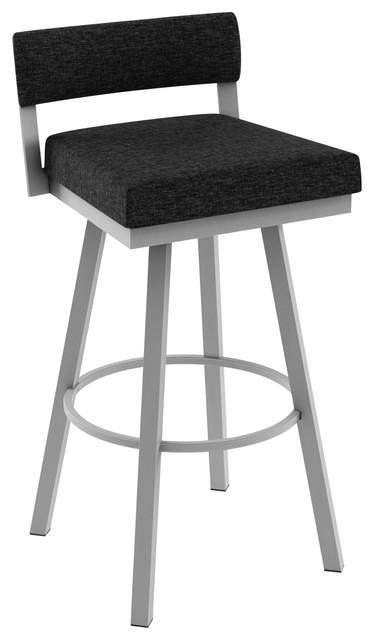 Marvelous Amisco Travis Swivel Stool Silver Grey Black Heather Polyester Counter Height Creativecarmelina Interior Chair Design Creativecarmelinacom