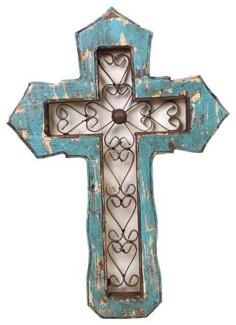 San Antonio Wall Cross, Turquoise.