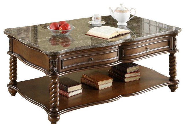 homelegance lockwood 3-piece rectangular coffee table set with
