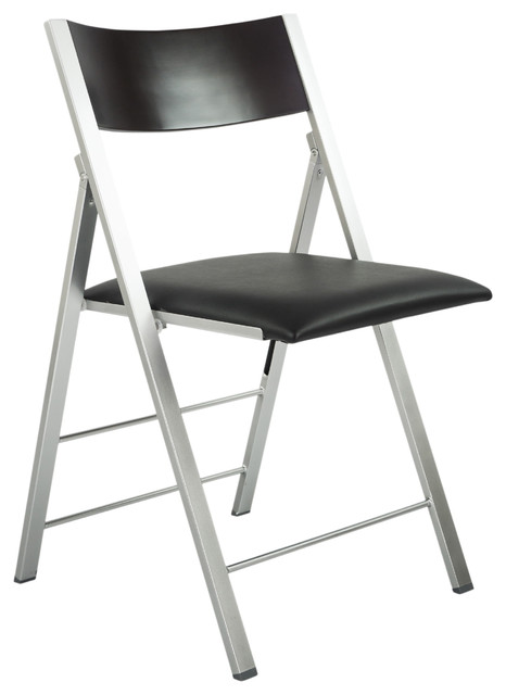 Amazing Space Saving Modern Folding Chair With Cushion, Set Of 2