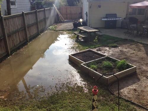 How do I prevent my garden from flooding?
