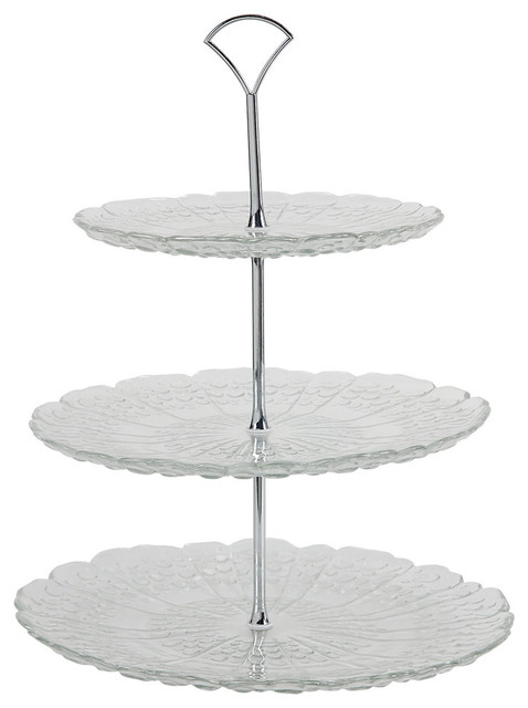 3tier glass plate server