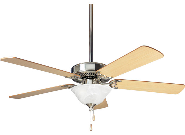 """Builder 52"""" 5 Blade Ceiling Fan - Blades And Light Kit Included"""