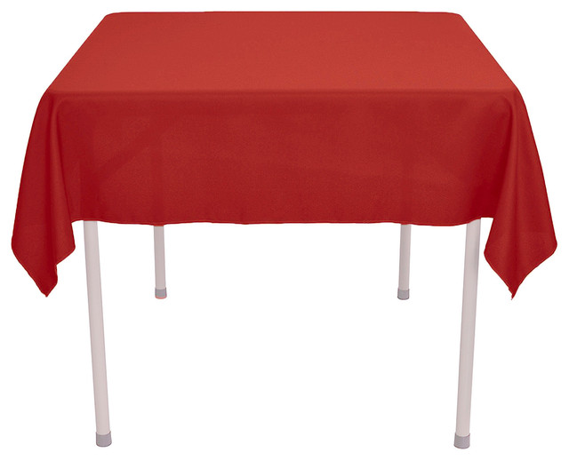 """60x""""60"""" Square Polyester Tablecloth - Modern - Tablecloths ..."""
