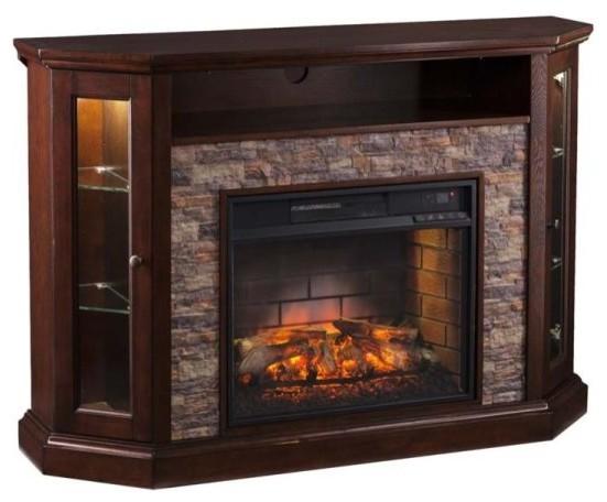 Redden Corner Convertible Infrared Electric Media Fireplace.