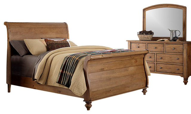 silver coast company bedroom set with solid spruce pine