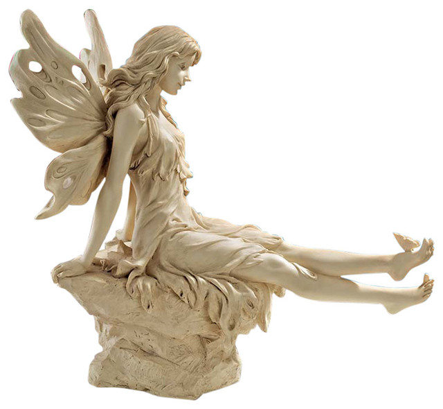 Twinkle toes fairy statue traditional garden statues and yard art by design toscano - Large garden fairy statues ...