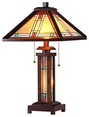 Marion 3-Light Wooden Table Lamp.