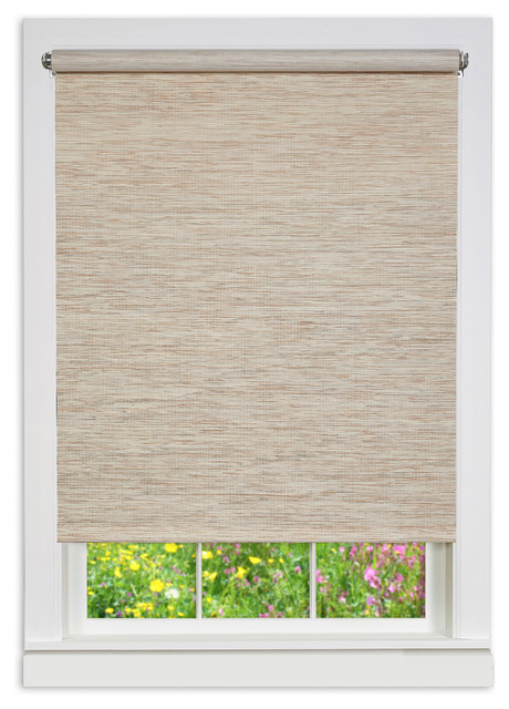 "Cords Free Privacy Jute Shade, Natural, 23""x72""."