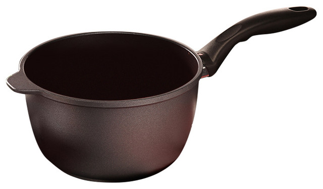 "Swiss Diamond Induction Nonstick Saucepan With Lid, 3.2 Qt, 8""."