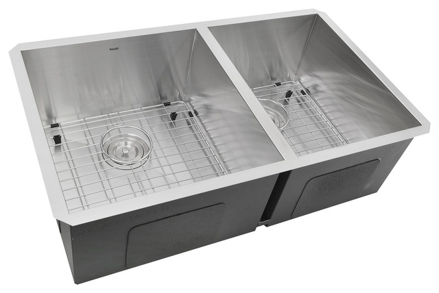 "Nantucket 32"" Pro Series 60/40 Double Bowl Undermount Stainless Kitchen Sink."