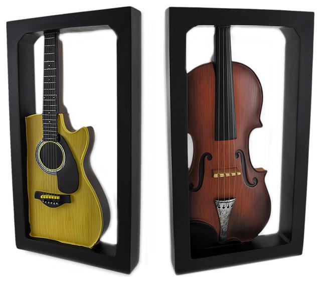 Zeckos acoustic guitar and classical violin shadow box for Bureau pro victo