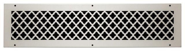 Solid Steel Return Vent Cover, White, Fits Duct Opening 30x6.