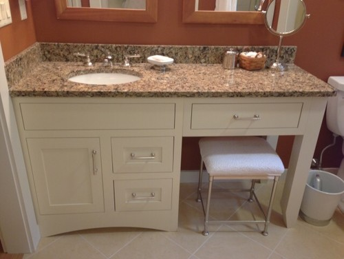 One Sink Bathroom Sit Down Vanity