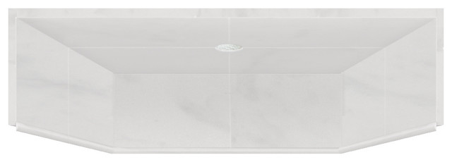 39.5x37.75 Solid Surface ADA Shower Dome, White Carrara by Transolid