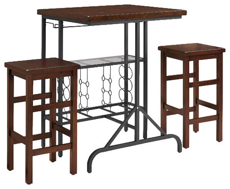 Sienna 3 Piece Casual Dining Set   Transitional   Indoor Pub And Bistro Sets    By Pot Racks Plus