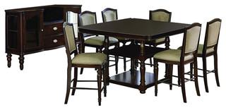 Homelegance Marston 8-Piece Counter Height Table Set in Espresso