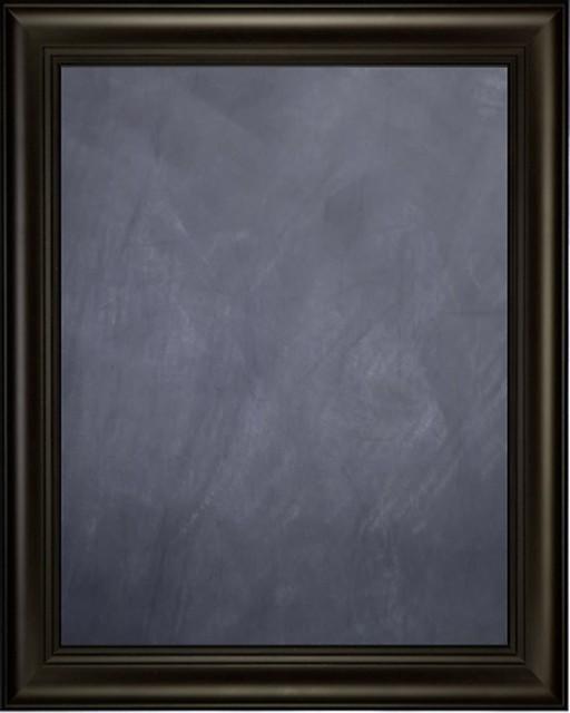 framed chalkboard 24 x 36 with espresso finish frame with triple step lip