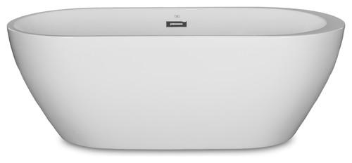 "Kokss Reno Freestanding Modern Seamless Acrylic Bathtub, 60"""