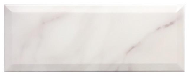 Marble Effect Large Metro Tile 15 x 40 cm, 1m²