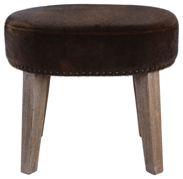 Remarkable Uttermost 23350 Caballot Chocolate Small Stool Cjindustries Chair Design For Home Cjindustriesco