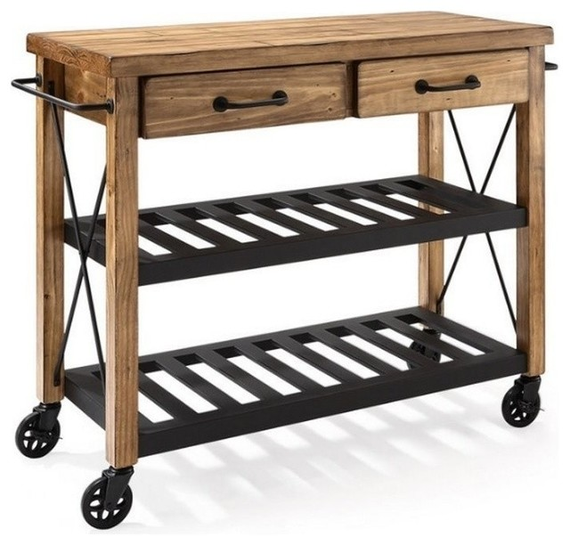 roots rack industrial kitchen cart rustic kitchen