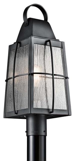 Kichler Tolerand Outdoor Post Mt 1 Light Textured Black