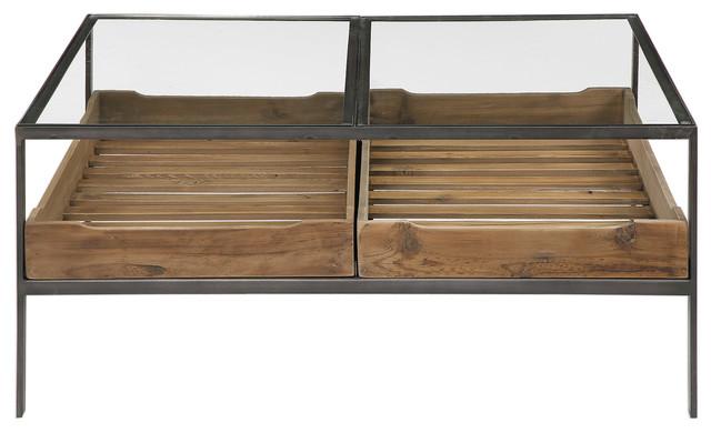 Display Storage Tray Coffee Table