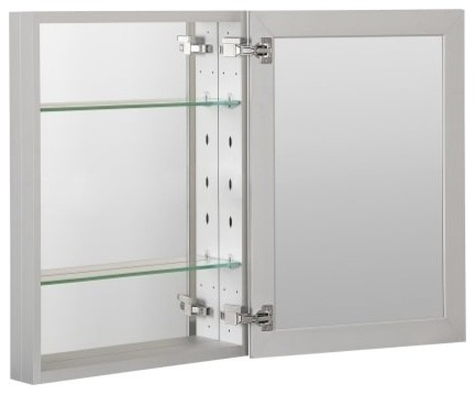 Foremost Mmc2026 Medicine Cabinet Bathroom Storage, Aluminum.