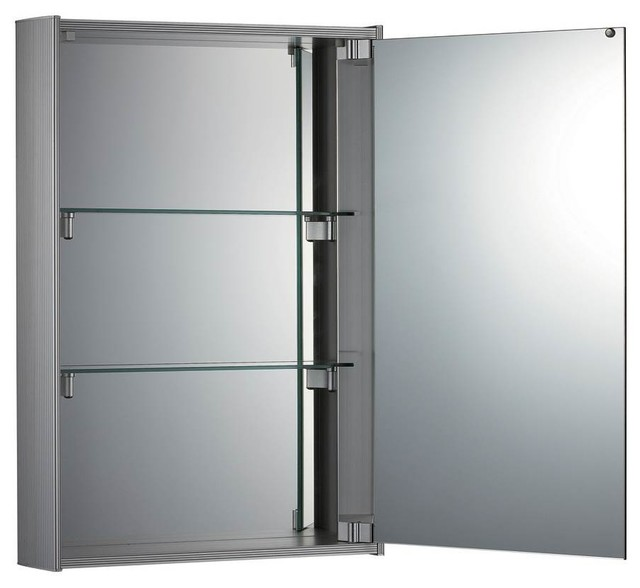 Vertical Double Faced Mirrored Door Medicine Cabinet.