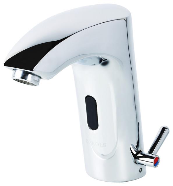 Peliel Dc Powered Single Hole Touchless Bathroom Faucet, Polished Chrome