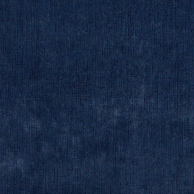 Dark Blue Textured Grid Microfiber Stain Resistant Upholstery Fabric By The Yard