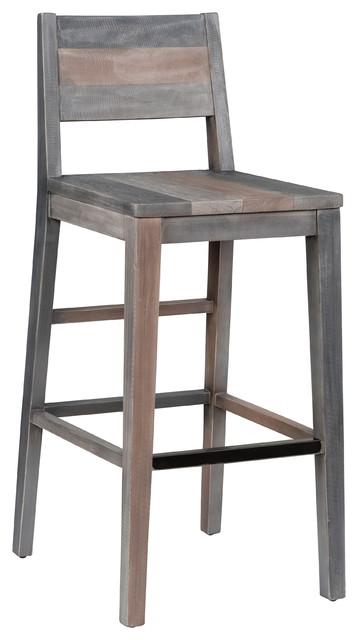 Prime Norman Reclaimed Pine 30 Barstool Charcoal Multi Tone By Kosas Home Frankydiablos Diy Chair Ideas Frankydiabloscom