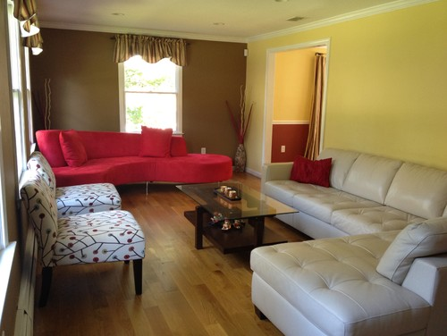 Genial Can I Warm It Up With A Light Tan Rug And Accent Pieces? What Other Wall  Colors Will Go With Red/white Sofa? Any Suggestions Would Be Great  Appreciated!