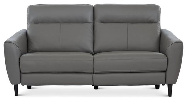 Regine Power Motion Leather Sofa, Dark Gray M/S 5655