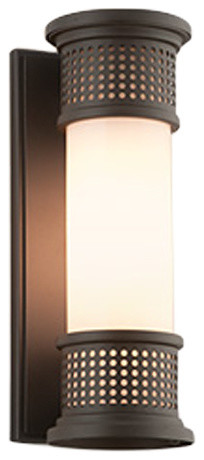 Mcqueen, Outdoor Led Outdoor Wall Sconce, Small, 4.5, Bronze Finish.