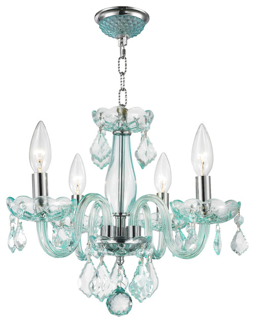 4 light 12 crystal candle chandelier traditional chandeliers by crystal lighting - Traditional crystal chandeliers ...