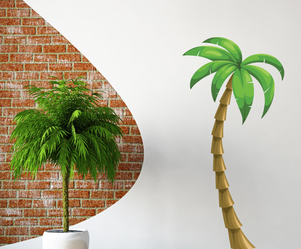 Palm Tree Vinyl Wall Decal Palmtreeuscolor006 10 In