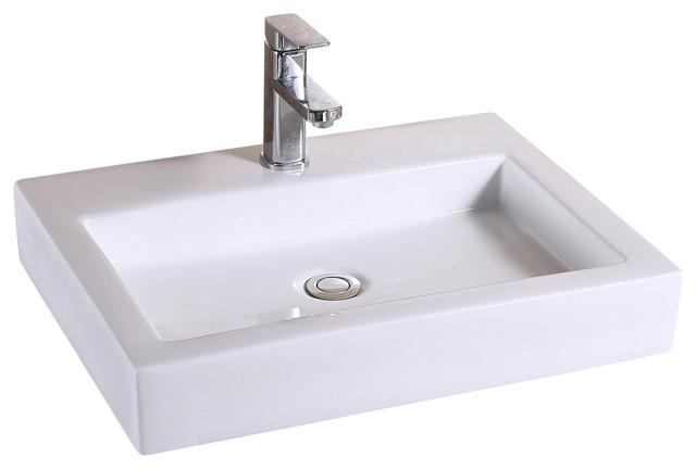 Bathroom Porcelain Ceramic Sink Art Basin, Oil Rubbed Bronze Popup Drain.