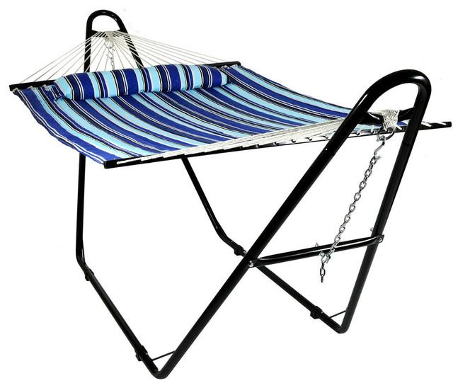 Shop houzz sunnydaze decor sunnydaze quilted double for Fabric hammock chair swing